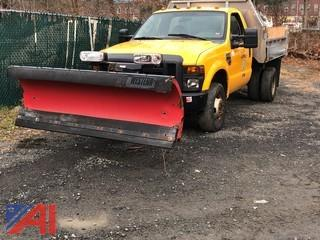 2008 Ford F350 Dump with Salt Spreader and Plow