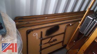Folding Tables & Wooden Shelf