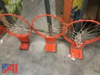 (3) Basketball Rims and Nets