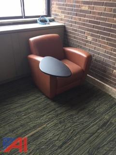 (1) Vinyl Lounge Chair with Tablet Arm