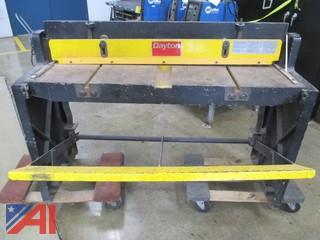 Dayton Foot Shear, Spot Welder, Charger, Metal Table