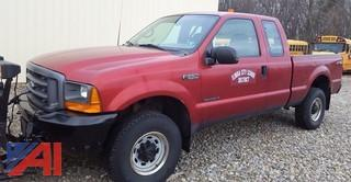 2001 Ford F250 XL Super Duty Pickup Truck with Plow