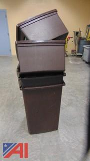 (2) Garbage Bins with Covers