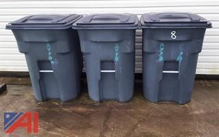 (3) Toter Garbage Barrels