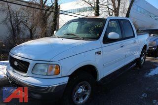 2002 Ford F150 4 Door Lariat Super Crew Short Bed