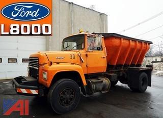 1988 Ford L8000 Fiberglass Salt/Spreader Truck