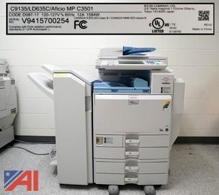 Ricoh Aficio MP C3501 Printer Copy Station