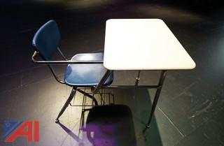 (33) Virco 3400 Series Combo Chair Desks