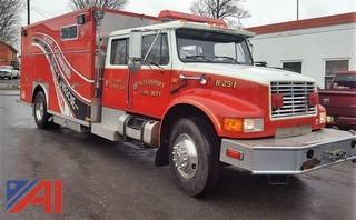 1992 International 4900 6 Man Cab Fire Truck