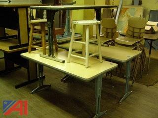 Lot of Tables and Stools