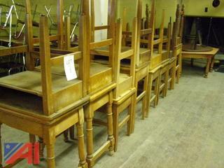 Wood Classroom Desks