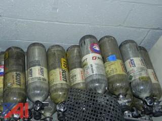 (22) S.C.B.A. Air-Pak 4.5 w/ Masks, Voice Amplifier & Tanks
