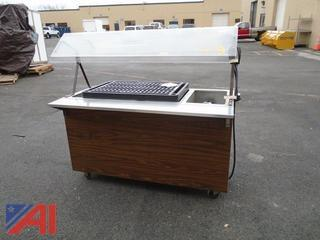 Heated Food Serving Cart