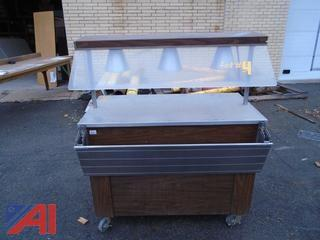 Lighted Food Serving Cart- Heated