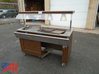 Lighted Food Serving Cart