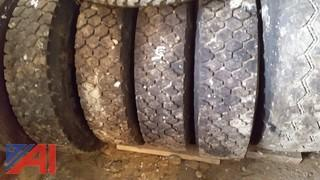 (3) Used Goodyear Truck Tires