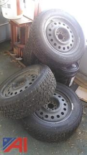 Studded Snow Tires with Rims