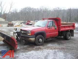 2004 Chevy 3500 Dump Truck with Plow