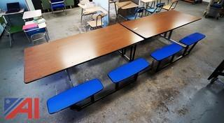 (9) 12' Fold & Roll Cafeteria Tables
