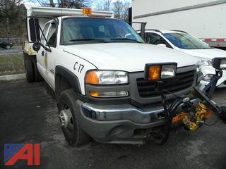2007 GMC Sierra K3500 Dump Truck with Plow
