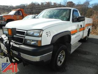 2007 Chevy Silverado K2500 HD Pickup with Utility Box and Plow