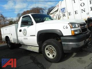 2006 Chevrolet Silverado K2500 HD Pickup with Utility Box and Plow
