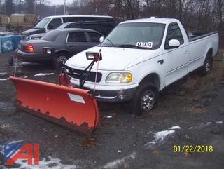1998 Ford F250 4x4 Pickup with Plow
