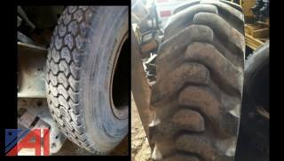 (1) Truck Tire (1) Loader Tire