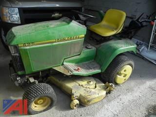 John Deere JD 425 Riding Mower with Plow