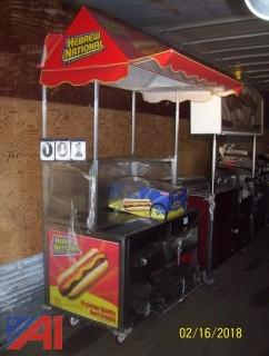 Hot Dog Vendors Cart