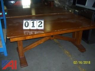 (7) Wooden Tables
