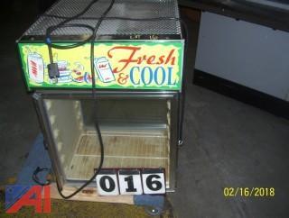 (3) Glass Door Refrigerators