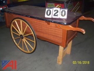 Wooden Vendors Cart