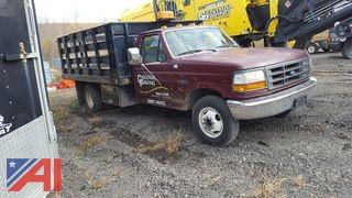 1995 Ford F350 XL Pickup with Rack