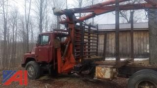1981 Mack Prentice Picker Log Loader Truck