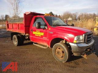 2004 Ford F550 XL Super Duty Dump Truck with Plow