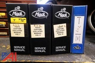 (4) Binder Set Mack 1998-1999 RD 690S Custom Collated Manuals