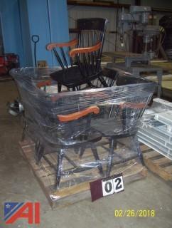 (5) Wood Chairs