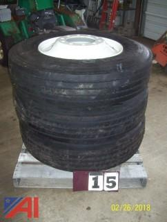 (3) 11R24.5 Tires