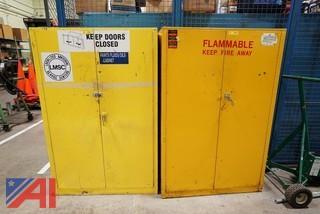 (2) Two Door Steel Safety/Flammable Liquid Cabinets