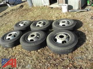 (6) Tires on Rims LT215/85R16