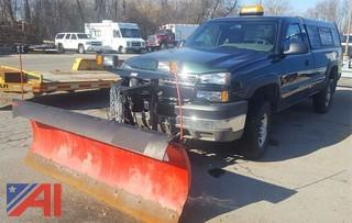 2005 Chevrolet Silverado 2500 HD Pickup Truck with Plow