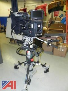 (#1) JVC ProHD Video Camera Mounted on a Vinten Pro-Ped Tripod w/ Various Accessories