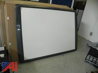 Promethean ActivBoard Model PRM-AB378-03 w/ Projector, Cords and Mounting Brackets