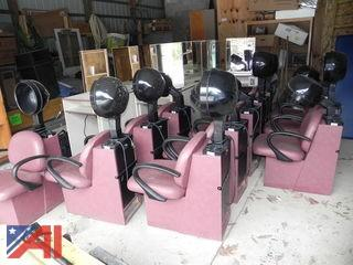 (12) Belvedere - Model 810 Professional Salon Hair Dryer & Chair