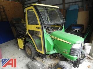 John Deere X700 Riding Lawn Tractor w/ Mower Deck, Snow Blower, Sweeper, Blower