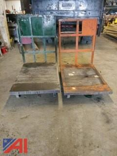 (2) Industrial Warehouse Carts