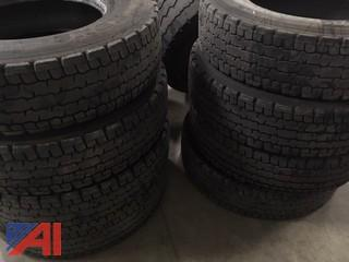 (8) Michelin 11R22.5 Tires