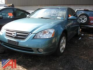**Lot Updated, Vehicle is Bill of Sale Only** 2002 Nissan Altima 4DR