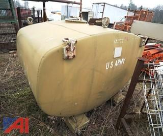 Military 600 Gallon Fuel Storage Tank/Camo